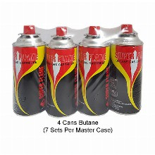 Super Flame Butane Gas 4 Pack