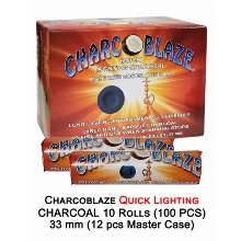 Charcoblaze Quick Lighting Charcoal 10 Rolls 100pcs 33mm