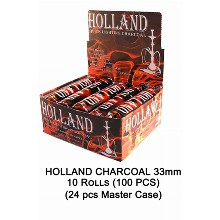 Holland Charcoal 33mm 10 Rolls 100 Pcs