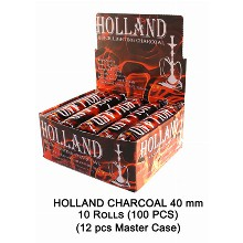 Holland Charcoal 40mm 10 Rolls 100 Pcs