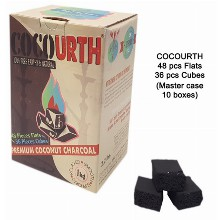 Cocourth Slow Burn Charcoal 48 Pcs Flats 36 Pcs Cubes
