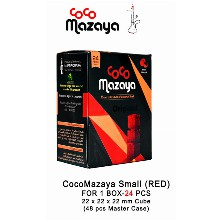 Coco Mazaya Smallred Charcoal Cubes 1 Box 24 Pcs 22mm