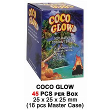 Coco Glow Slow Burn Charcoal 45 Pcs Per Box 25mm