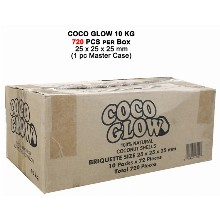 Coco Glow Slow Burn Charcoal 10 Kg 720 Pcs Per Box 25mm