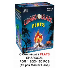 Charcoblaze Slow Burn Flats Charcoal 1 Box 150 Pcs