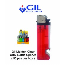 Gil Lighter Clear With Bottle Opener