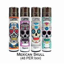 Clipper Lighter Mexican Scull