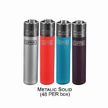 Clipper Lighter Metalic Solid