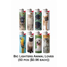 Bic Lighter Animal Loves