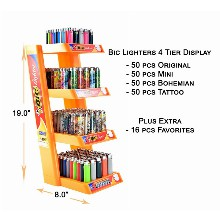 Bic Lighters 4 Tier Display