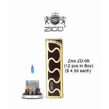 Zico Zd 09 original Butane Refillable Wind proof Flame Lighter