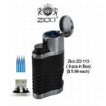 Zico Zd 113 Quad Flames Torch Lighter