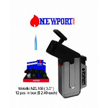 3.0 Inch Newport Metallic Nzl Torch Lighter