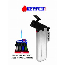 4.5 Inch Newport Zero Metallic Nzl109 Torch Lighter
