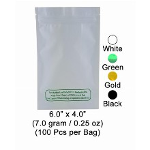 Zipped Bag 6 Inch X 4 Inch 7 Gram & 0.25 Oz