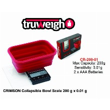 Truweight Crimson Collapsible Bowl Scale Cr 200 01
