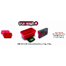 Truweight Mini Crimson Collapsible Bowl Scale Mcr 100 01