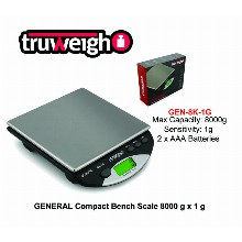 Truweight General Compact Bench Scale Gen 8k 1g