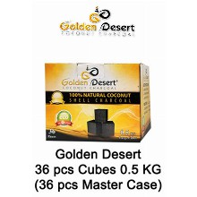 Golden Desert Charcoal Cubes 0.5 Kg 36 Pcs