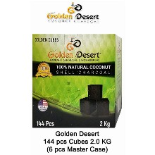 Golden Desert Charcoal Cubes 2 Kg 144 Pcs