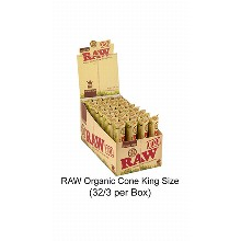 Raw Organic Cone King Size