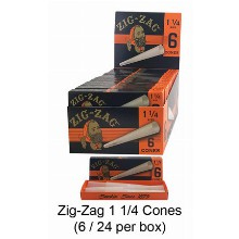Zig Zag Unbleached 1 1 & 4 Cones
