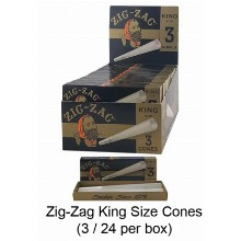 Zig Zag Unbleached King Size Cones