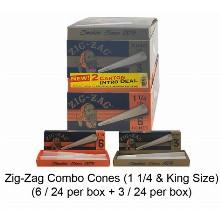 Zig Zag Combo Cones 1 1 & 4 King Size
