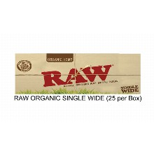 Raw Organic Single Wide Paper
