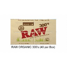 Raw Organic 300 Inchs Paper