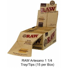 Raw Artesano 1 1 & 4 Tray & tips