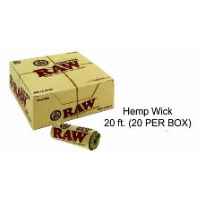 Raw Hemp Wick 20 Ft