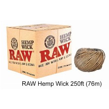 Raw Hemp Wick 250ft 76m