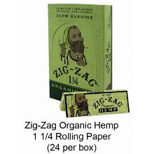 Zig Zag Organic Hemp 1 1 & 4 Paper