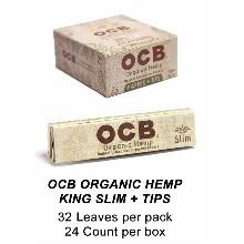 OCB Organic Hemp King Slim Tips