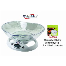 WeighMax Kitchen Scale With Large Bowl W 5800