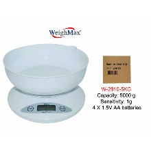 WeighMax Kitchen Scale With Large Bowl W 2810 5kg