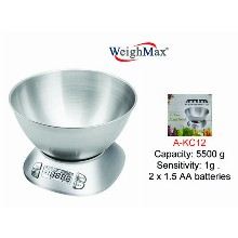 Weighmax Digital Kitchen Scale With Large Bowl A kc12