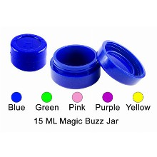 15 Ml Silicone Magic Buzz Jar Blue Color