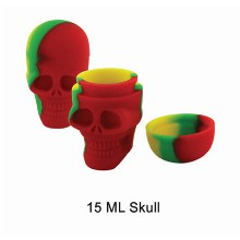 15 Ml Silicone Skull Jar Mixed Colors