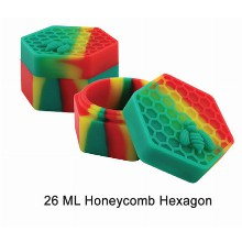 26 Ml Silicone Inch Honeycomb Hexagon Inch Jar Mixed Colors