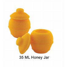 35 Ml Silicone Honey Jar Orange Color