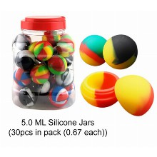 5 Ml Silicone Inchball Inch Jar Mixed Colors