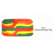 12 Inch Silicone Rolling Tray 3 Colored Stripes