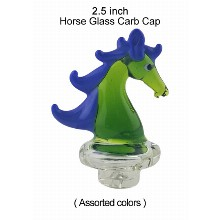 2.5 Inch Horse Glass Carb Cap