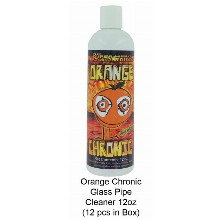 Orange Chronic Glass Pipe Cleaner 12oz