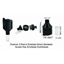 Plastic 3 Parts Powder Grinder Container