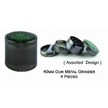 40mm Gun Metal Grinder 4 Pieces