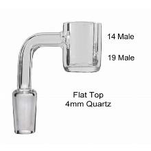 14 19 Male 4mm Quartz Banger Flat Top Male
