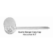 4 Inch Horizontal Quartz Banger Carp Cap
